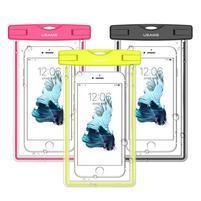 Fluorescent IPX8 vodotěsný obal na mobil do 158 x 78 mm - zelený