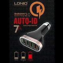 QCH7 extrémně rychlá autonabíječka se 4 výstupy USB a celkový výstupem 7A