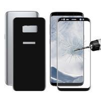 Sada přední a zadní celoplošné tvrzené sklo na Samsung Galaxy S8 Plus - černá