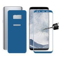 Sada přední a zadní celoplošné tvrzené sklo na Samsung Galaxy S8 Plus - modrá