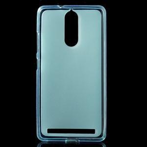Matný gelový obal na mobil Lenovo K5 Note - modrý - 1