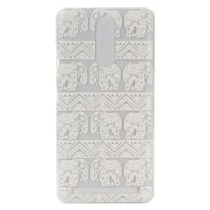 Plastový obal na mobil Lenovo K5 Note - sloni - 1