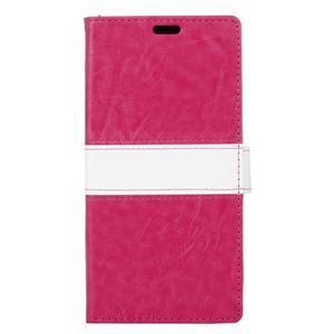 Colory knížkové pouzdro na Lenovo K5 Note - rose - 1