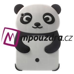 3D Silikonové pouzdro na iPad mini 2 - černá panda - 1