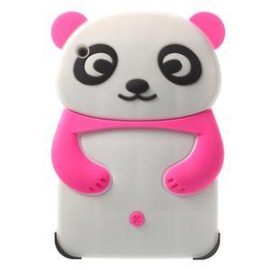 3D Silikonové pouzdro na iPad mini 2 - růžová panda - 1