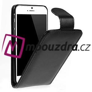 PU kožené flipové pouzdro na iPhone 6, 4.7 - černé - 1