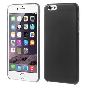 Ultra slim 0.3 mm plastové pouzdro na iPhone 6, 4.7  - černé - 1