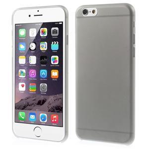 Ultra slim 0.3 mm plastové pouzdro na iPhone 6, 4.7  - šedé - 1
