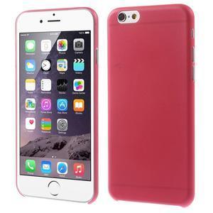 Ultra slim 0.3 mm plastové pouzdro na iPhone 6, 4.7  - červené - 1