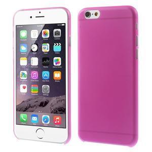 Ultra slim 0.3 mm plastové pouzdro na iPhone 6, 4.7  - růžové - 1
