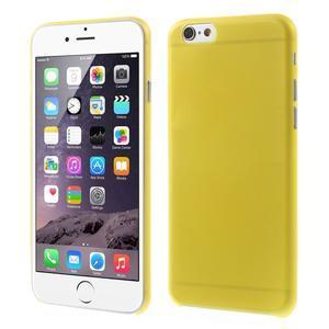 Ultra slim 0.3 mm plastové pouzdro na iPhone 6, 4.7  - žluté - 1