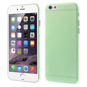 Ultra slim 0.3 mm plastové pouzdro na iPhone 6, 4.7  - zelené - 1