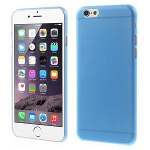 Ultra slim 0.3 mm plastové pouzdro na iPhone 6, 4.7  - modré - 1