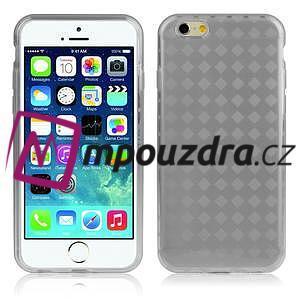 Gelové koskované pouzdro na iPhone 6, 4.7 - šedé - 1