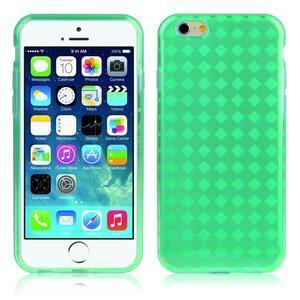 Gelové kostkované pouzdro na iPhone 6, 4.7 - zelené - 1