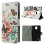 Peněženkové pouzdro na Samsung Galaxy Note 4- barevní motýlci - 1/7