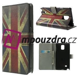 Peněženkové pouzdro na Samsung Galaxy Note 4- UK vlajka - 1
