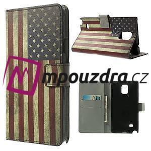 Peněženkové pouzdro na Samsung Galaxy Note 4- USA vlajka - 1