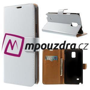 Peněženkové PU kožené pouzdro na Samsung Galaxy Note 4- bílé - 1