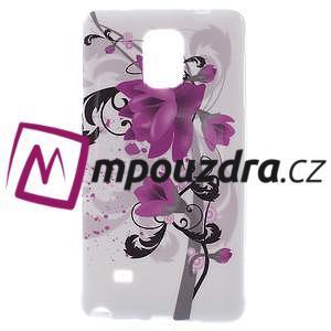 Gelové pouzdro na Samsung Galaxy Note 4- fialový květ - 1