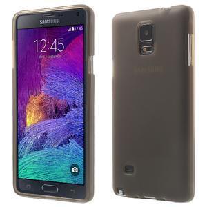 Gelové pouzdro na Samsung Galaxy Note 4- šedé - 1