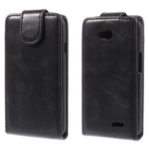 Flipové pouzdro na LG L65 D280 - černé - 1