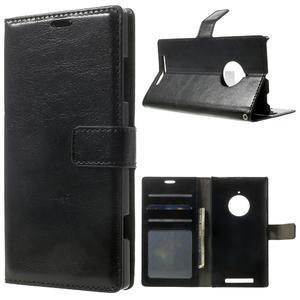 Peněženkové pouzdro na Nokia Lumia 830 - černé - 1