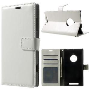 Peněženkové pouzdro na Nokia Lumia 830 - bílé - 1