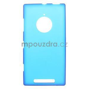 Gelové matné pouzdro na Nokia Lumia 830 - modré - 1