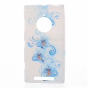 Gelové pouzdro na Nokia Lumia 830 - modrá lilie - 1
