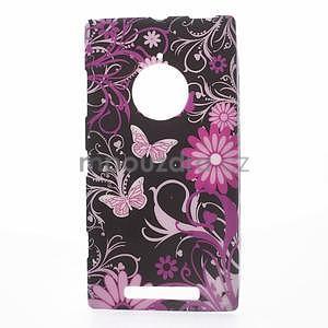 Gelové pouzdro na Nokia Lumia 830 - motýl a květ - 1