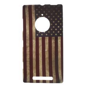 Gelové pouzdro na Nokia Lumia 830 - USA vlajka - 1