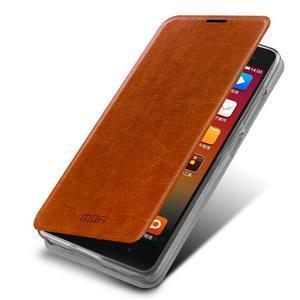 Flipové PU kožené pouzdro na Xiaomi Mi4- hnědé - 1
