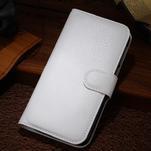 Peněženkové pouzdro na Alcatel One Touch Idol Alpha 6032 A - bílé - 1/2