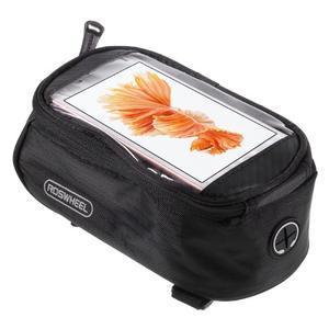 Prostorná brašna na kolo pro mobilní telefony do rozměru 158,1 x 78 x 7,1 mm - černá - 1