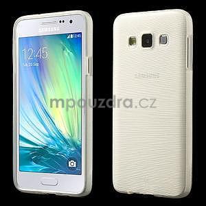 Broušené pouzdro na Samsung Galaxy A3 - bílá - 1
