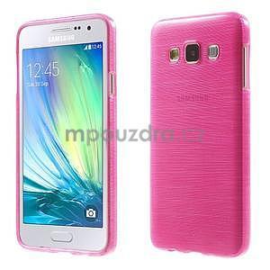 Broušené pouzdro na Samsung Galaxy A3 - rose - 1