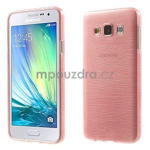 Broušené pouzdro na Samsung Galaxy A3 - růžová - 1