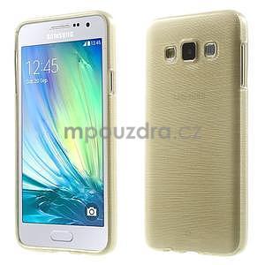 Broušené pouzdro na Samsung Galaxy A3 - zlatá - 1