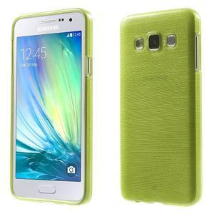 Broušené pouzdro na Samsung Galaxy A3 - zelená - 1