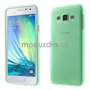Broušené pouzdro na Samsung Galaxy A3 - světle zelená - 1