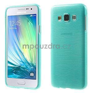 Broušené pouzdro na Samsung Galaxy A3 - tyrkysová - 1