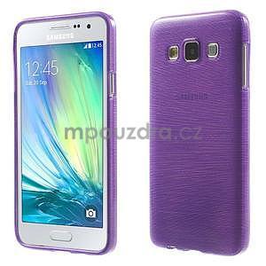 Broušené pouzdro na Samsung Galaxy A3 - fialová - 1