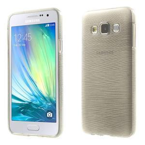 Broušené pouzdro na Samsung Galaxy A3 - šedá - 1