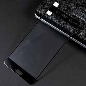 Celoplošné fixační tvrzené sklo na Nokia 6 - černý lem - 1