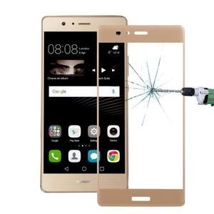 Protinárazové celoplošné tvrzené sklo na mobil Huawei P9 - zlaté - 1