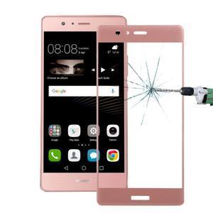 Protinárazové celoplošné tvrzené sklo na mobil Huawei P9 - zlatorůžové - 1