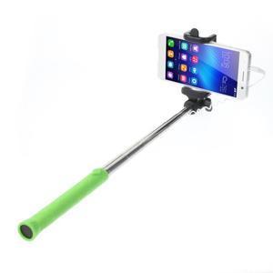 D9X automatická selfie tyč se spínačem - zelená - 1