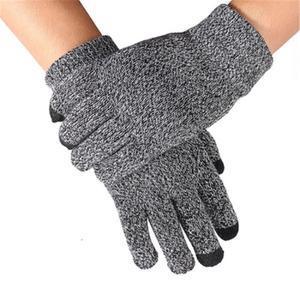 No5 rukavice na dotykové displeje - šedé - 1