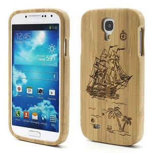 Dřevené pouzdro rozepínací na Samsung Galaxy S4 - loď - 1